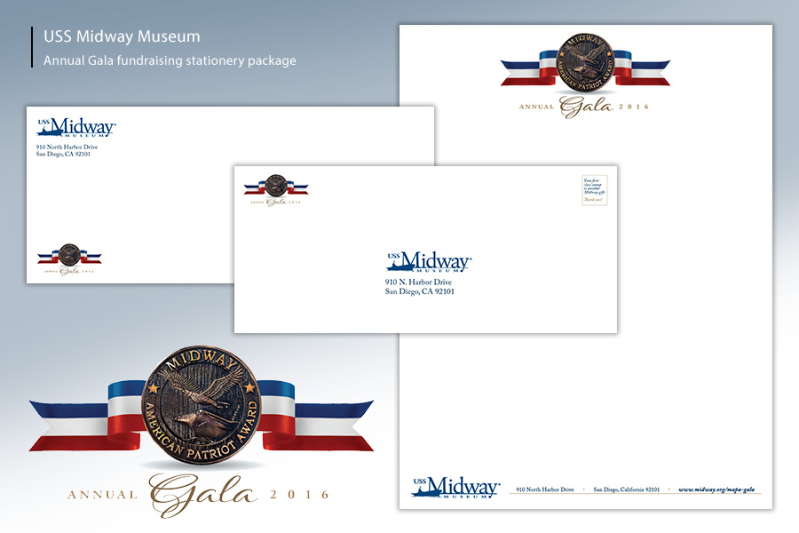 Midway Museum Gala Fundraiser Stationery