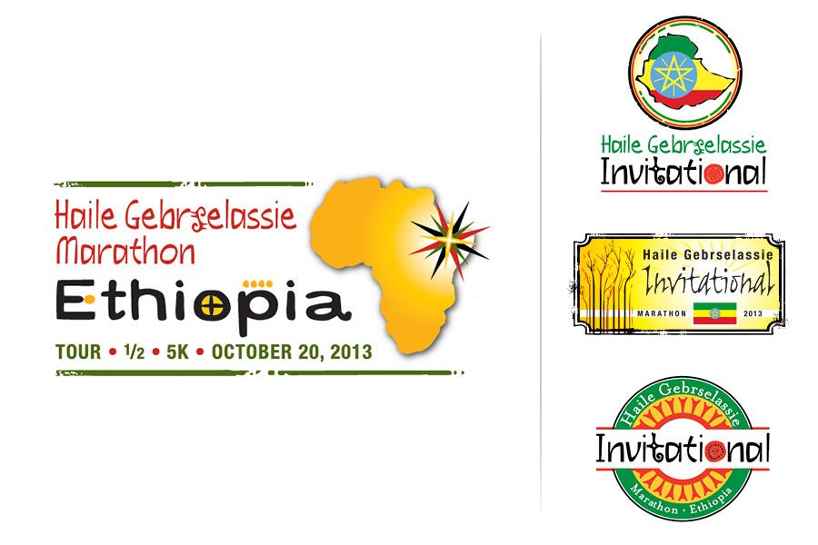 Haile Gebrselassie Invitational Marathon Logo Design