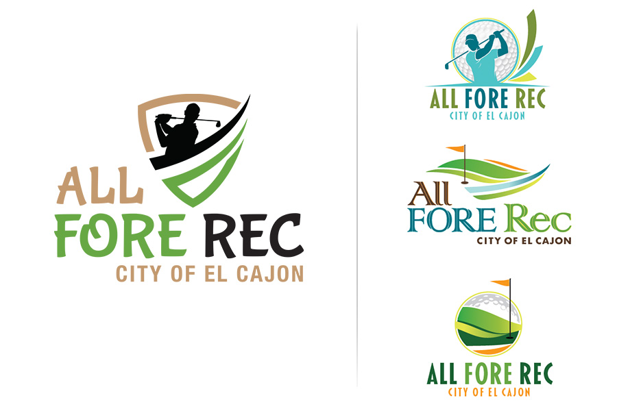 All Fore Rec Logo Design