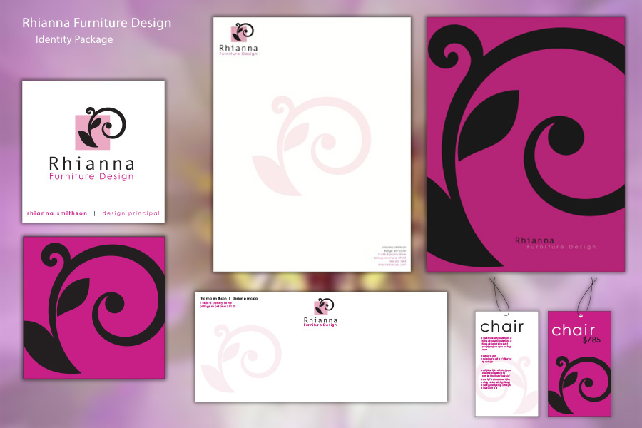 Rhianna Furniture Design Stationery Package