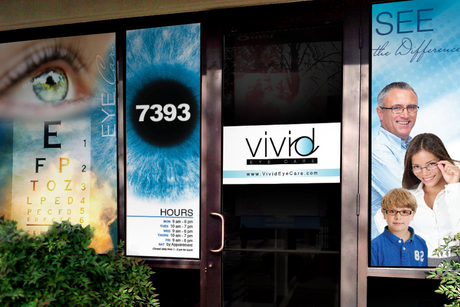 Vivid Eye Care Storefront Marketing