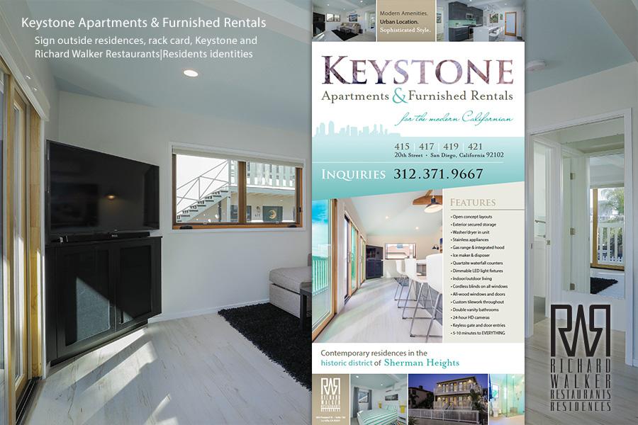 Keystone Apartments Signage and Marketing
