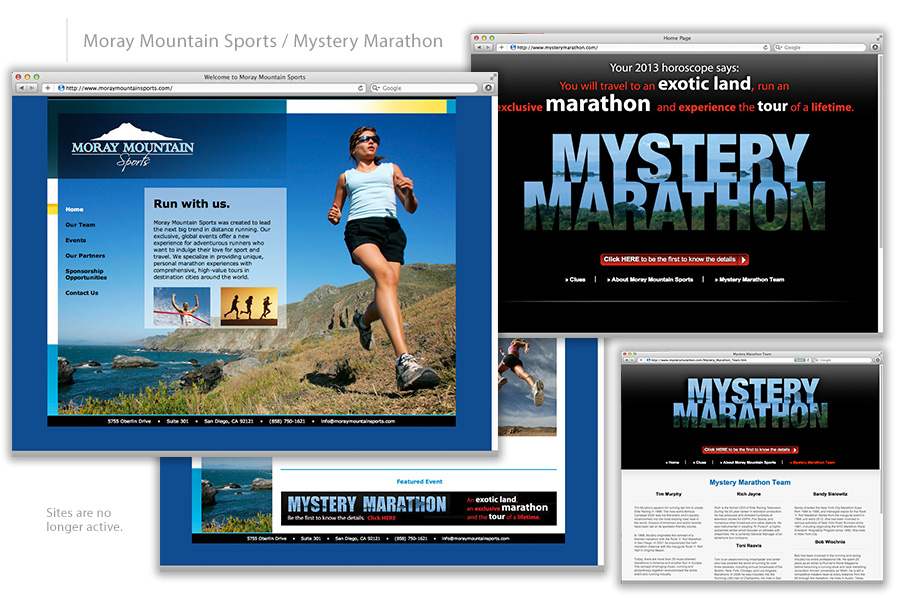 Moray Mountain Sports / Mystery Marathon Web Design