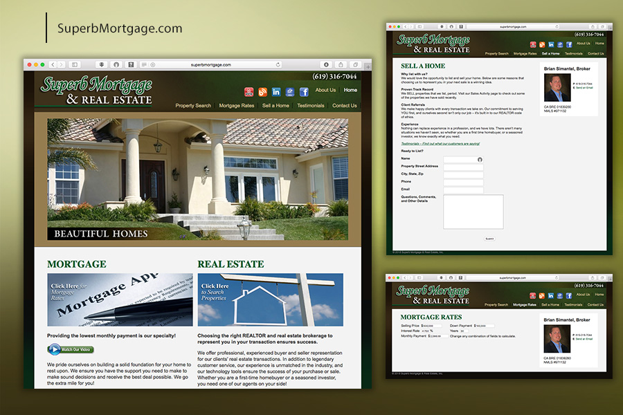 Superb Mortgage & Real Estate Website